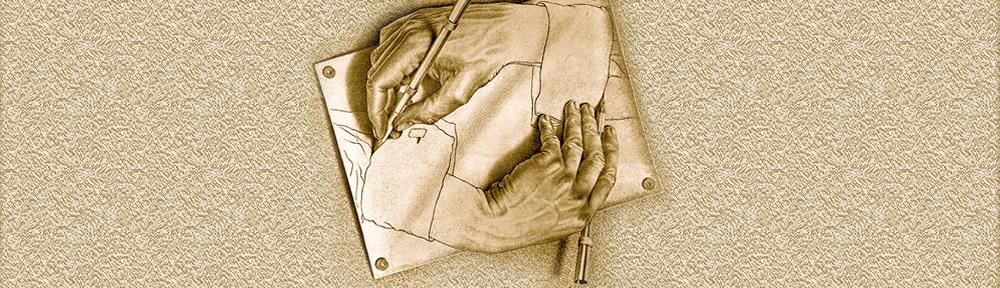 Maurits Cornelis Escher_Mans dibuixant, 1948