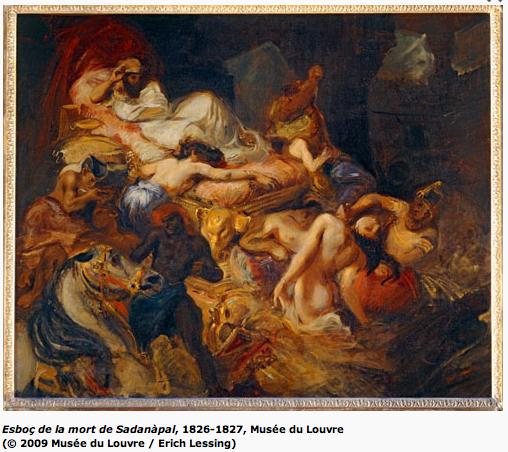 Delacroix - Esboç de la mort de Sadanàpal, 1826-1827, Museé du Louvre