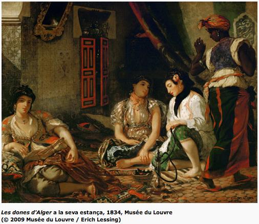 Delacroix - Les dones d'Alger a la seva estança, 1834, Museé du Louvre