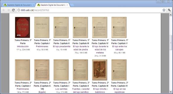 Fig. 3 Salvador Sanpere y Miquel. Historia del lujo,Barcelona: Font y Torrents, Editores, 1886