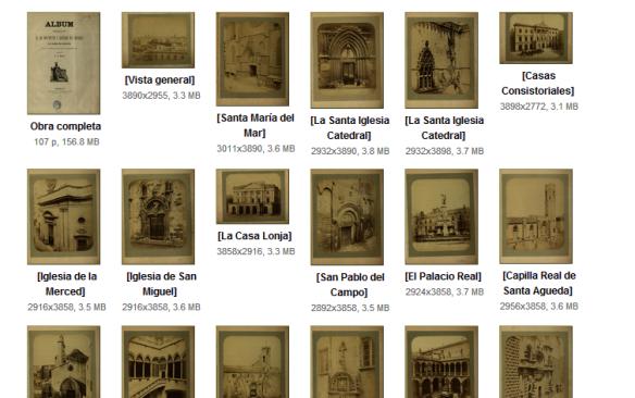 Álbum fotográfico de los Monumentos y Edificios más notables que existen en Barcelona