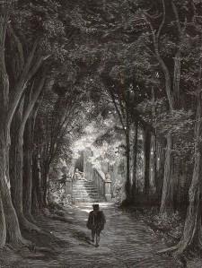 La bella dorment del bosc. Gravat per Héliodore Pisan, xilografia