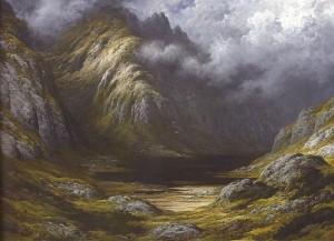 """""""Llac a Écosse. Després del temporal"""", 1875-78"""